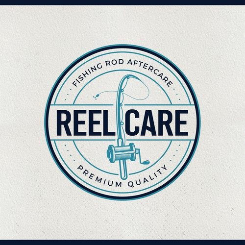 Fishing Reel Themed Logo | A Line of fishing rod/reel cleaners and detailing products