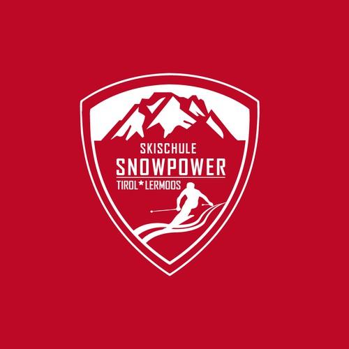 Logo für eine Skischule in den Alpen