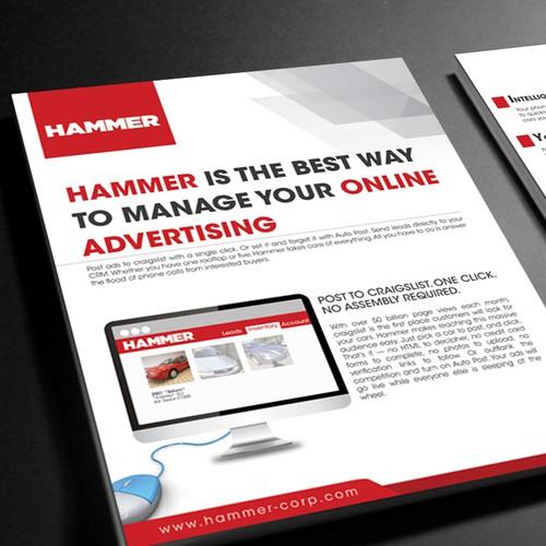 sales/marketing promotional flyer for Hammer