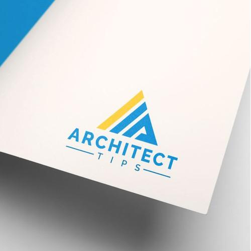 A Letter logo tech design