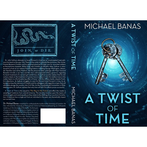 Book cover design for A Twist of Time, the sequel to The Key to the Future