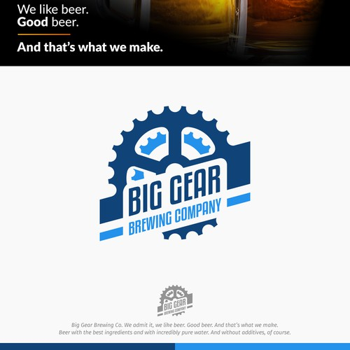 Logo concept for Big Gear Brewing
