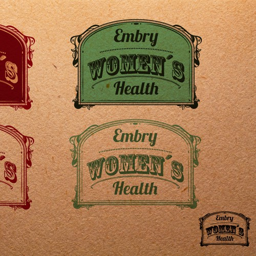 Vintage logo design for Women's Health Medical Practice
