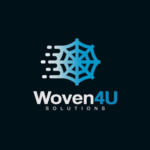 Logo design for Woven4U Solutions Web & App design