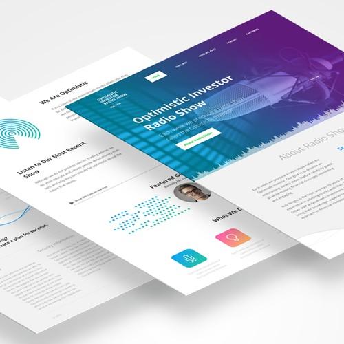 Website Design for Radio Show