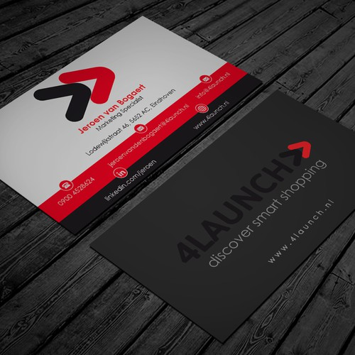 Create a Clean Business card for 4Launch!