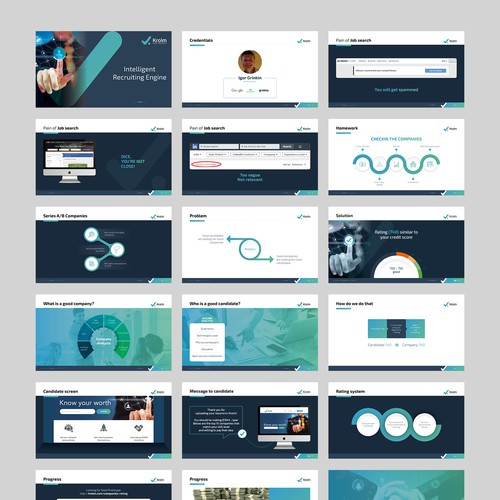 Recruiting website powerpoint presentation pitch