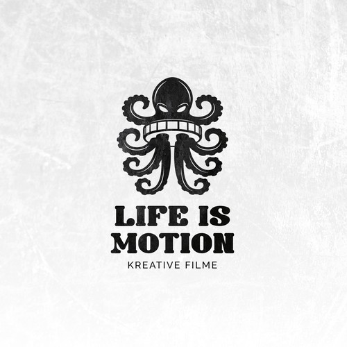 Creative logo for Life is Motion film production company.