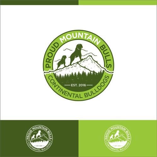 """Erstelle ein Logo für """"Proud Mountain Bulls"""" die etwas andere Hundezucht."""