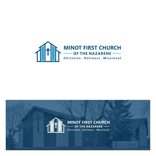 Clean and Simple Logo for Minot First Church of The Nazarene