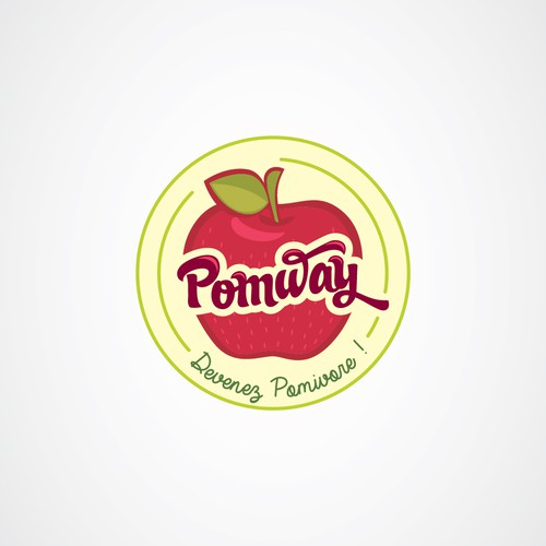 Organic logo for apples and apple juice