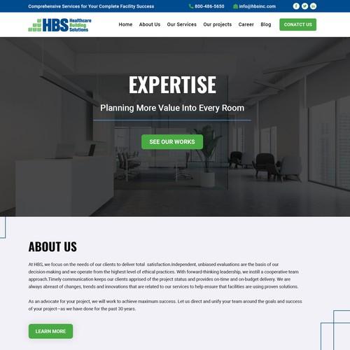Wordpress Theme Design - Healthcare Building Solutions