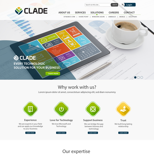 Engaging and original website for boutique IT Consulting Company