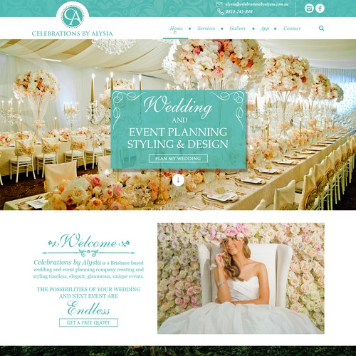 Luxury wedding planner needs new Website Design