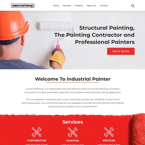 Web Design for Industrial Painter