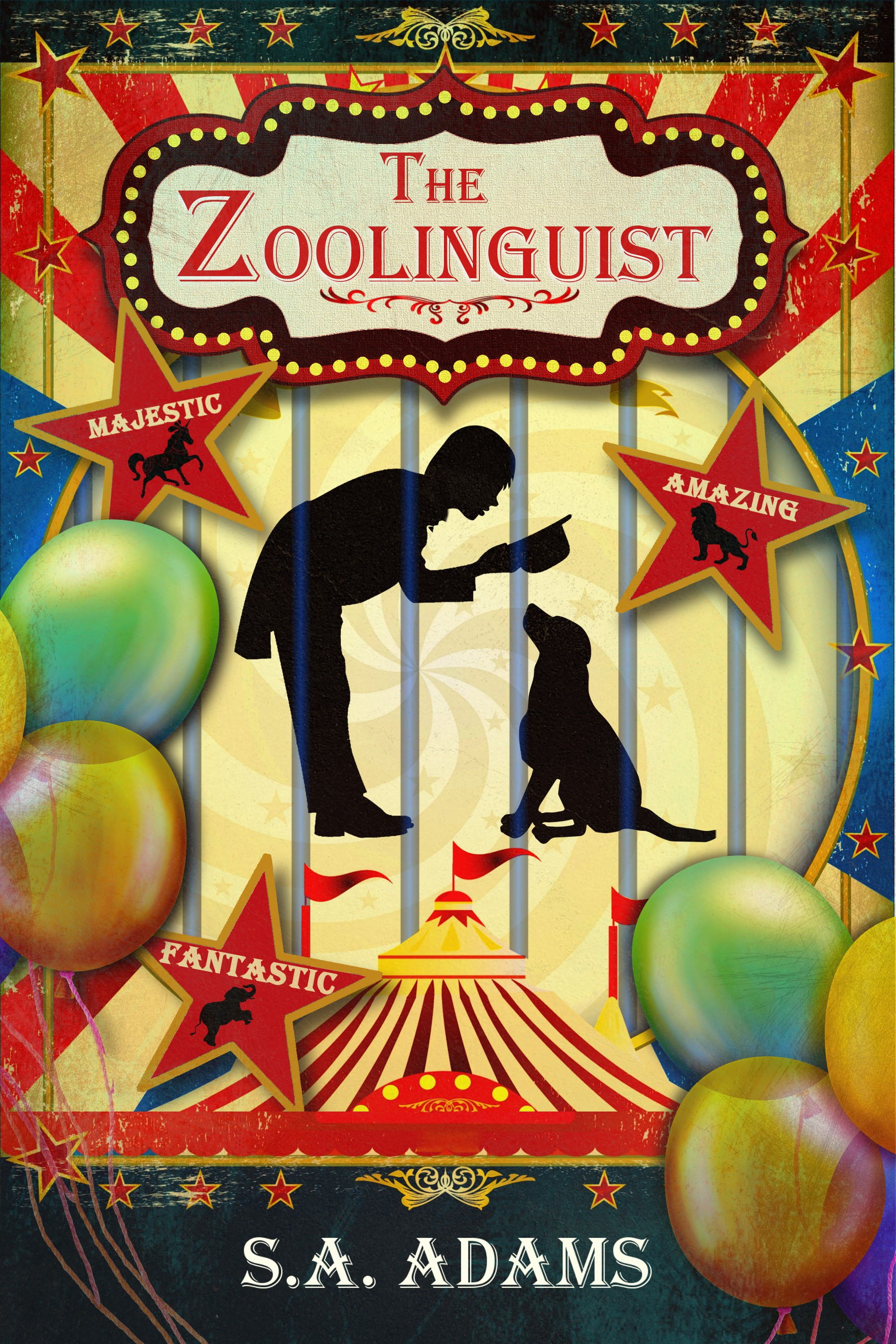 Colorful Vintage Circus Style E-book Cover