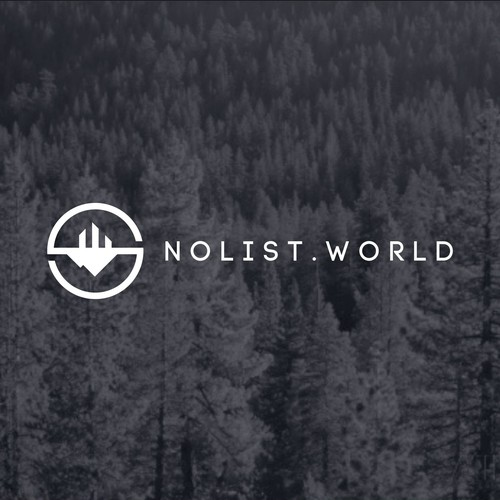 Simple and Clean Logo for NoList.World