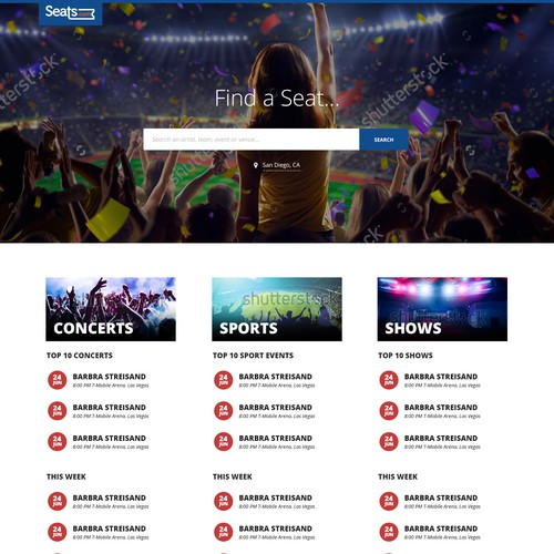 Ticket Market Web Design