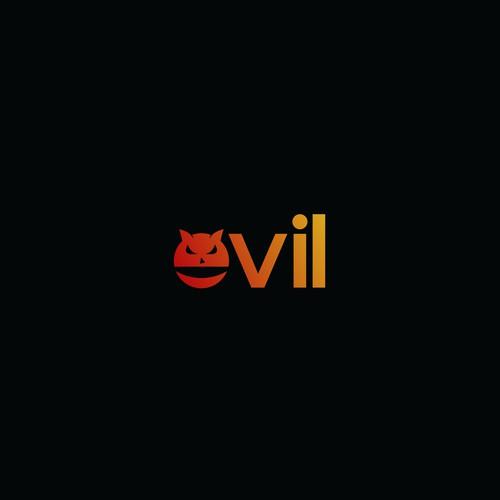 evil logo type concept