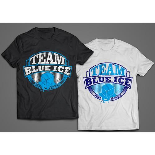 team blue ice t-shirt