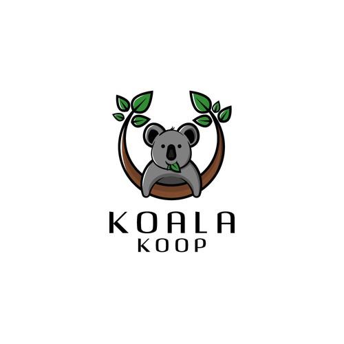 Simple logo for Koala Koop