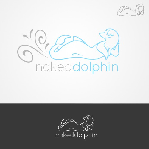 Naked Dolphin!  Sexy, bashful and classy