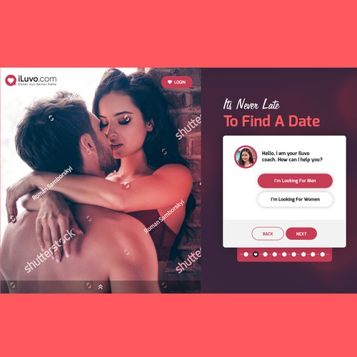 final design for dating landiing page