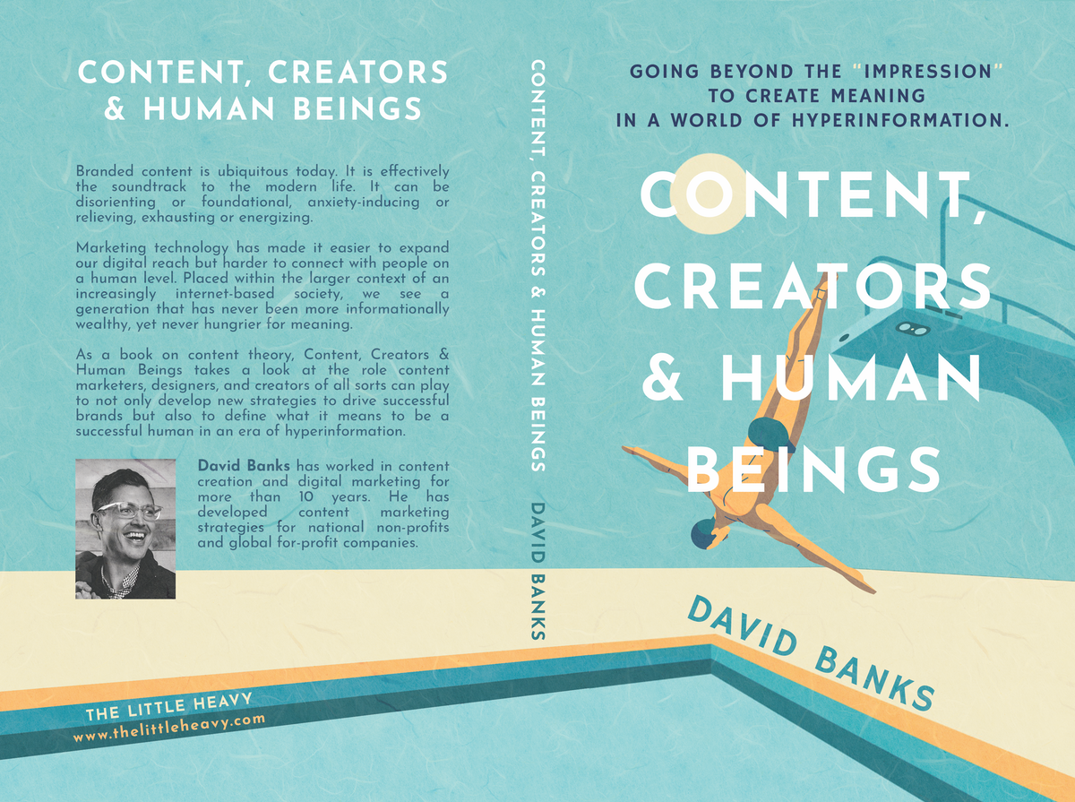 Cover for nonfiction book on technology and content marketing.