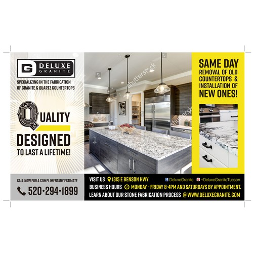 AD for G DELUXE Granite