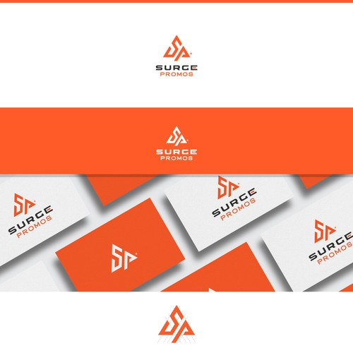 Grid based logo for Surge