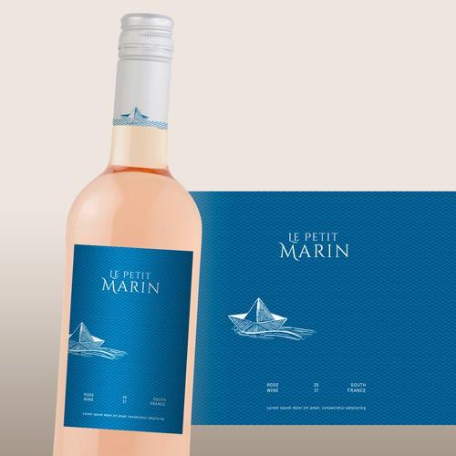 Rose wine label design