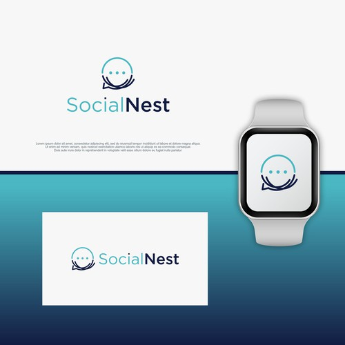 Clean, Simple & smart logo for Social Nest