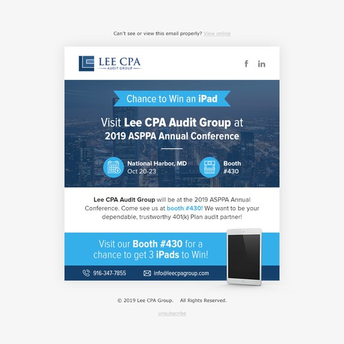 Lee CPA Email design