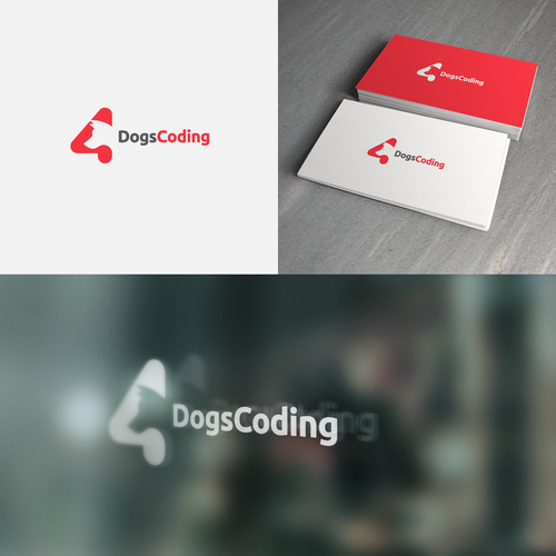 Logo design for 4 Dogs Coding