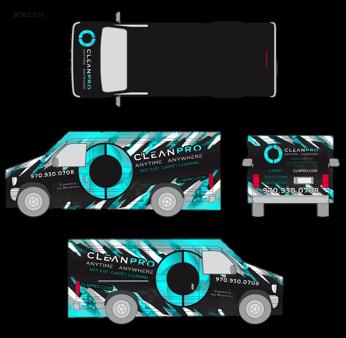 CleanPRO Cargo Van Wrap