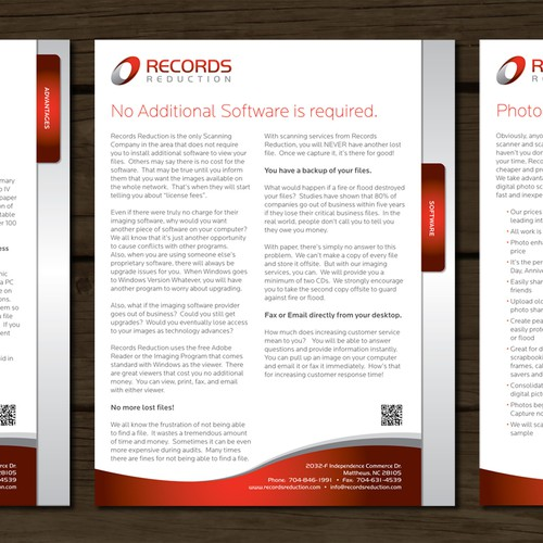 Records Reduction, Inc. needs a new brochure design