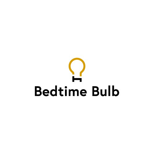 Bed, Time and Bulb logo for a healthy light bulb company.