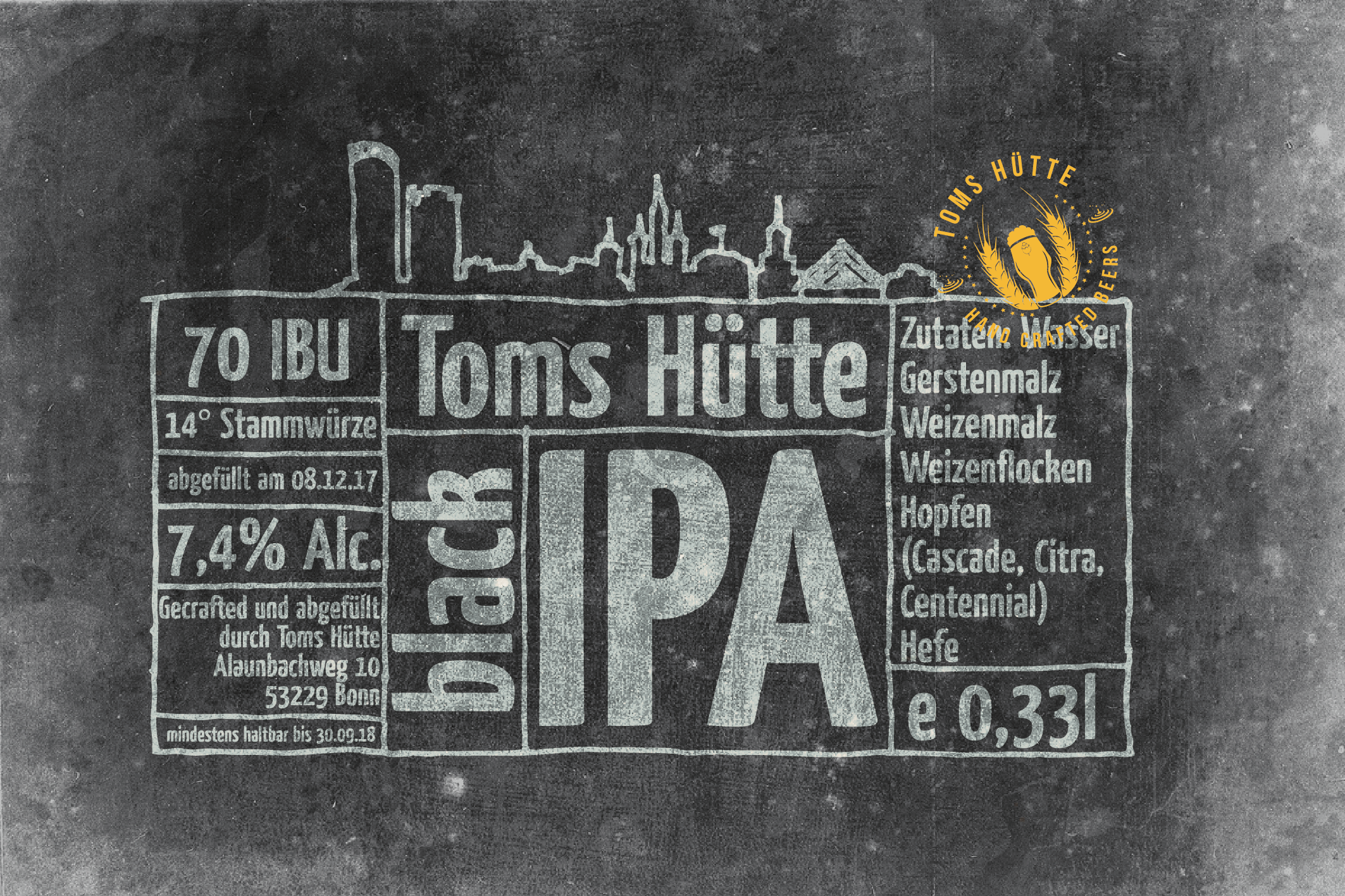 creative label design for a nano brewery in Germany needed