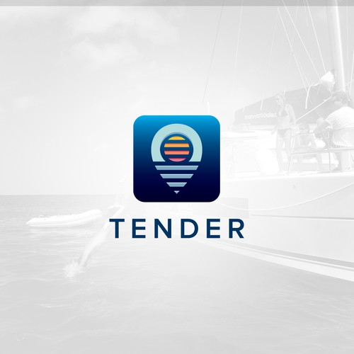 Modern app icon design for Tender