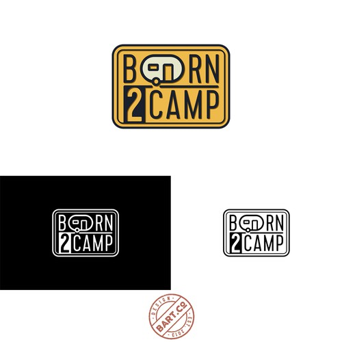 born2camp Logo Design