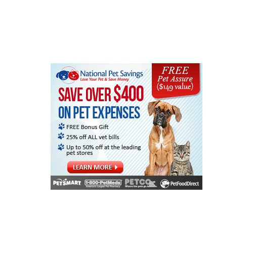 Create the next banner ad for National Pet Savings