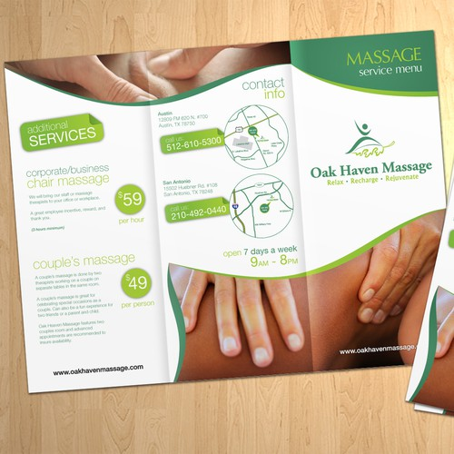 Oak Haven Massage Brochure