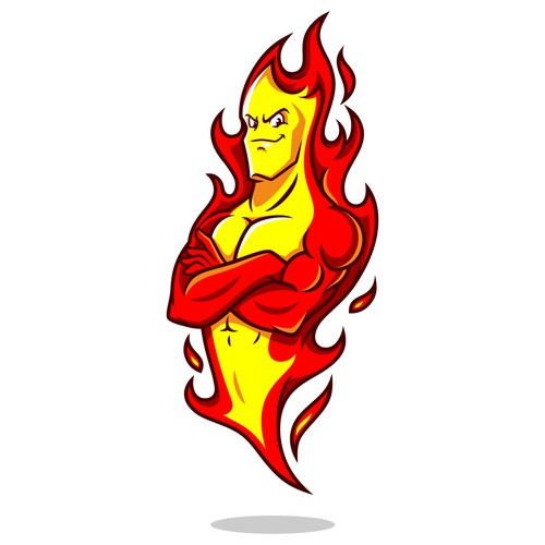 Cool Yet Fiery Mascot Illustration