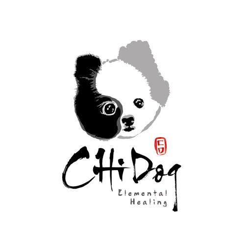 Eastern style logo for Dog food