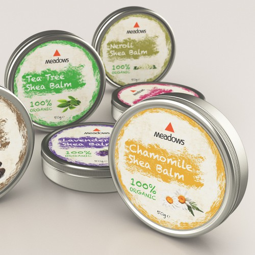 Label design for a serie of balm products