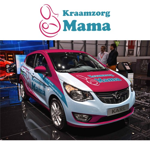 AUTO DESIGN for Maternity Care car wrap for Kraamzorg Mama