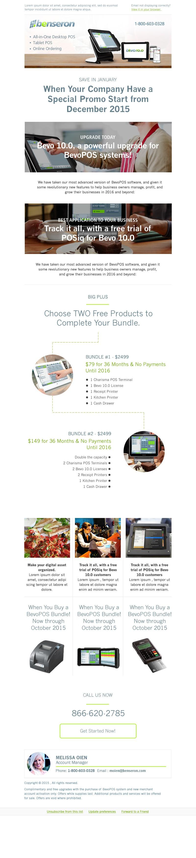 Email Templates to Match Benseron.com Website Design