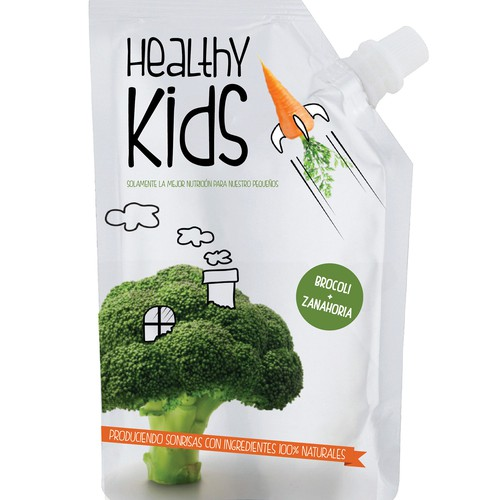 Packaging design for Natural and healthy foods for infants and toddlers