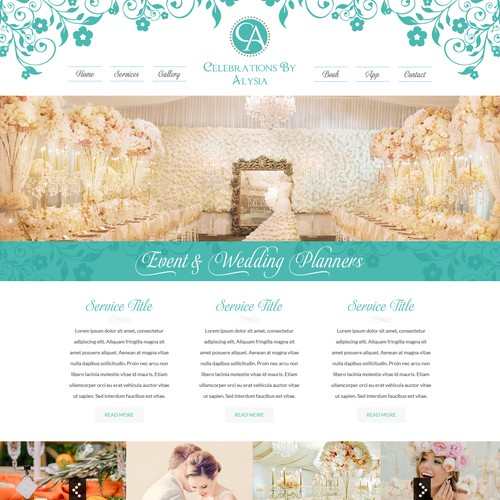 Event and Wedding Planner Website