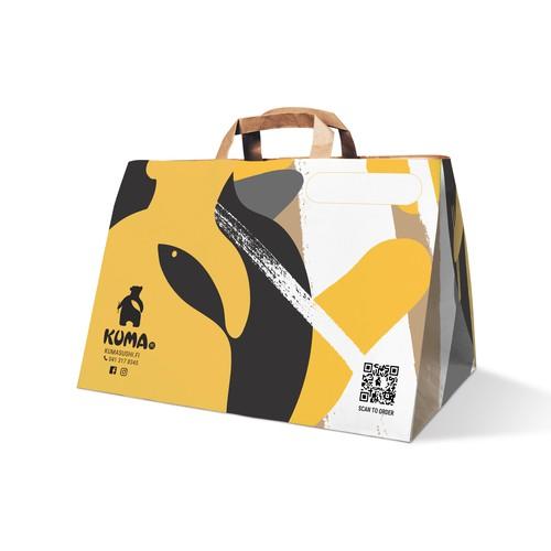 Takeaway paper bag design